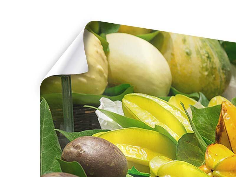 Panorama Poster 3-teilig Früchte