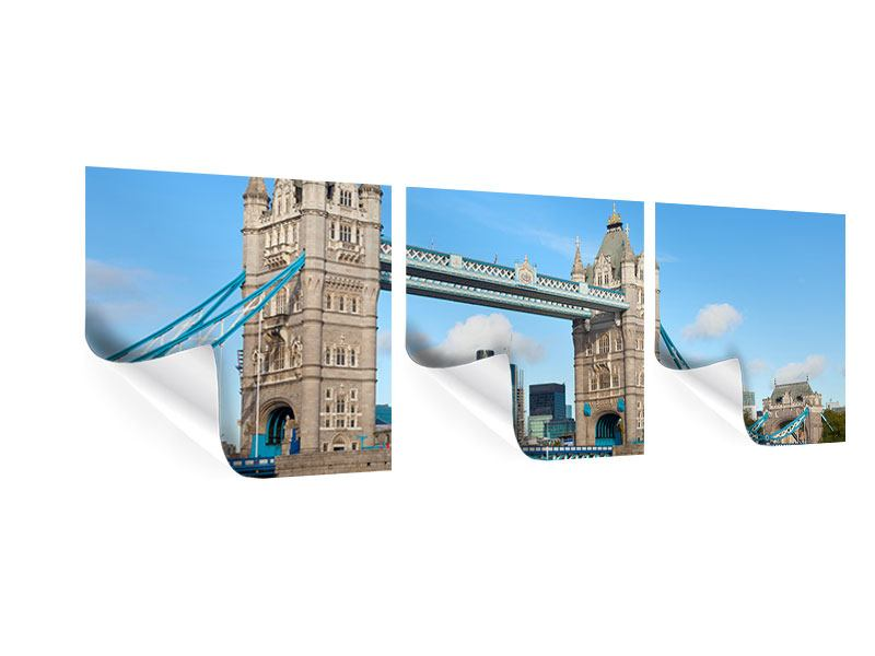 Panorama Poster 3-teilig Die Tower Bridge
