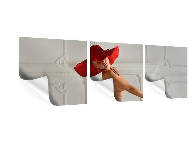 Panorama Poster 3-teilig Nude-Diva