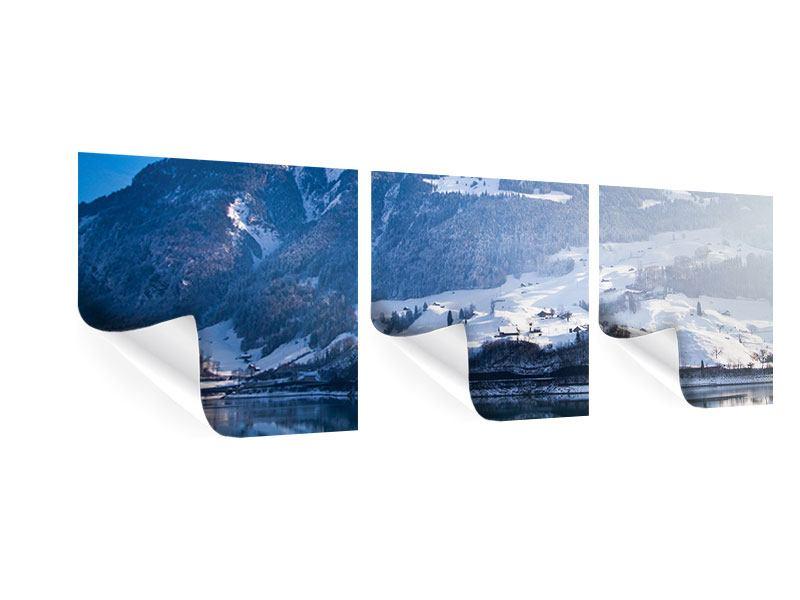 Panorama Poster 3-teilig Winterwunderland