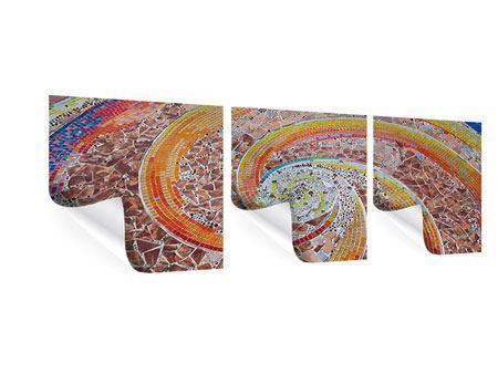Panorama Poster 3-teilig Mosaik