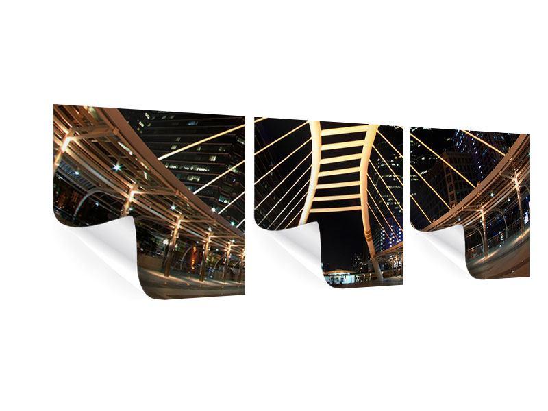 Panorama Poster 3-teilig Avantgardistische Brücke