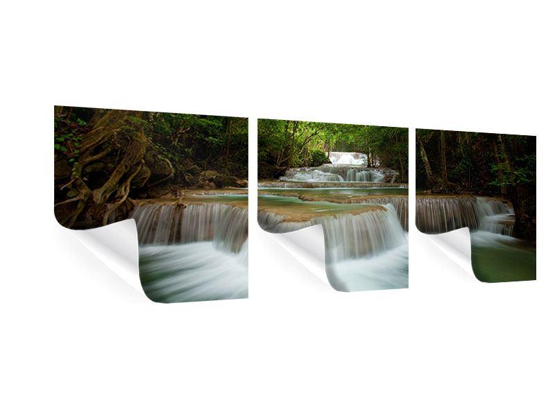 Panorama Poster 3-teilig Die 7 Stufen