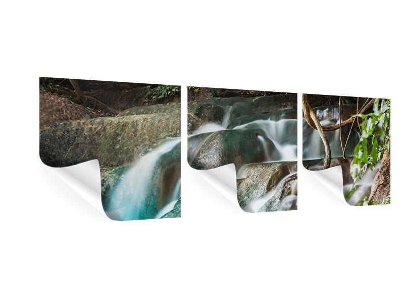Panorama Poster 3-teilig Am Fluss des Lebens