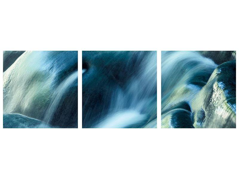 Panorama Poster 3-teilig Das Fliessende Wasser