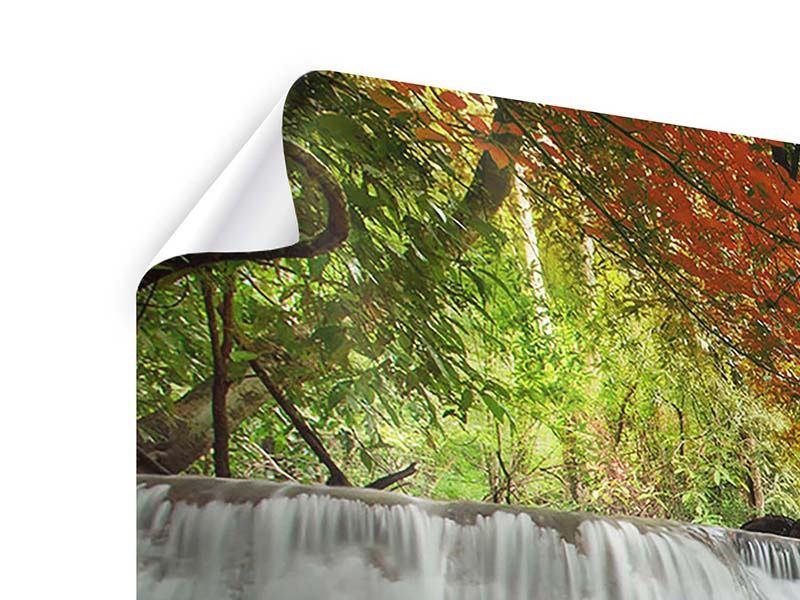 Panorama Poster 3-teilig Erawan Wasserfall