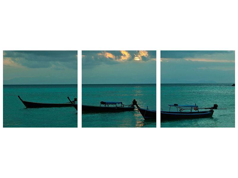 Panorama Poster 3-teilig Ozean