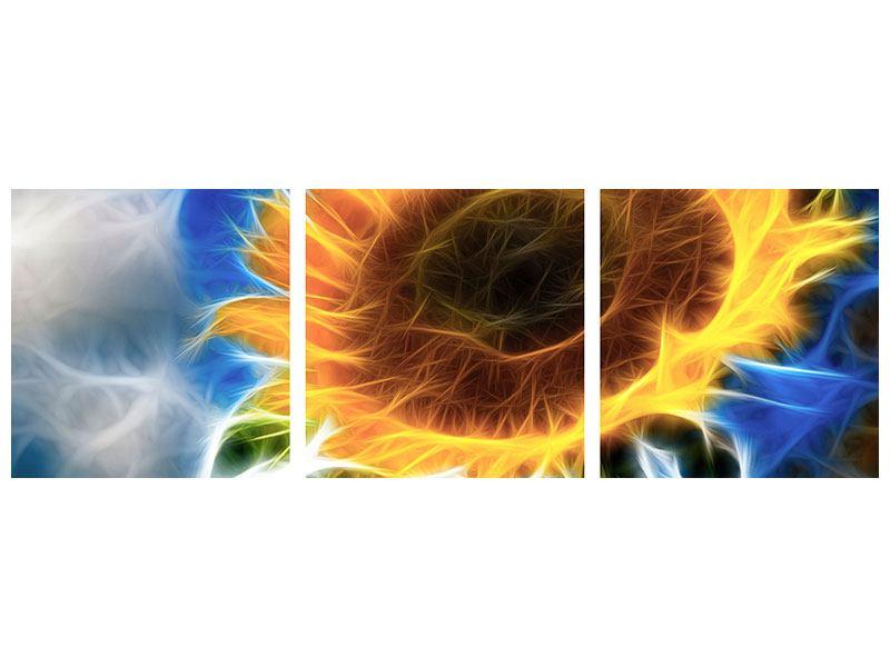 Panorama Poster 3-teilig Der Sonne entgegen