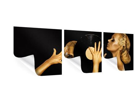 Panorama Poster 3-teilig Gold-DJ`s