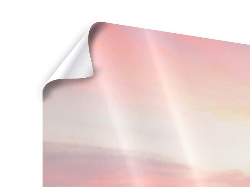 Panorama Poster 3-teilig Der beruhigende Sonnenuntergang