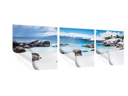 Panorama Poster 3-teilig Inselfeeling