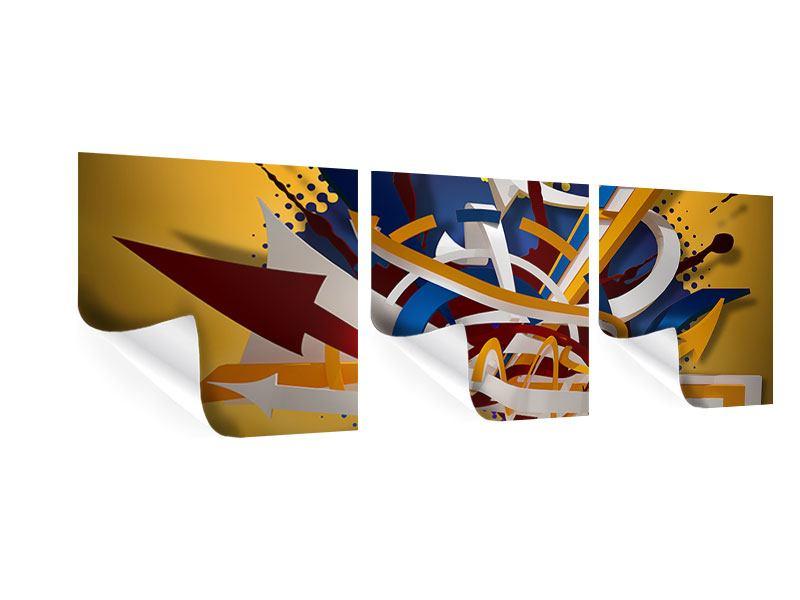 Panorama Poster 3-teilig Graffiti Art