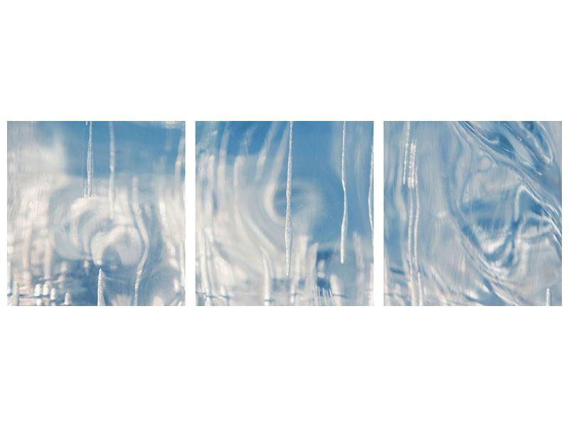 Panorama Poster 3-teilig Das Eis des Baikalsees