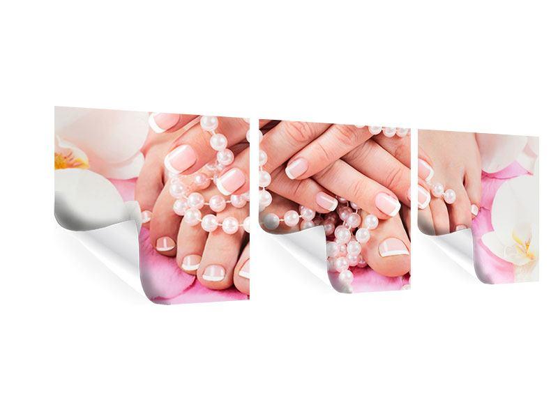 Panorama Poster 3-teilig Hände und Füsse