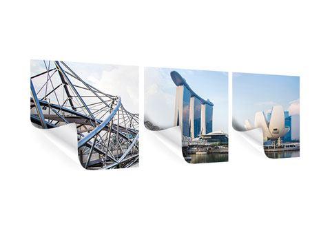 Panorama Poster 3-teilig Singapur