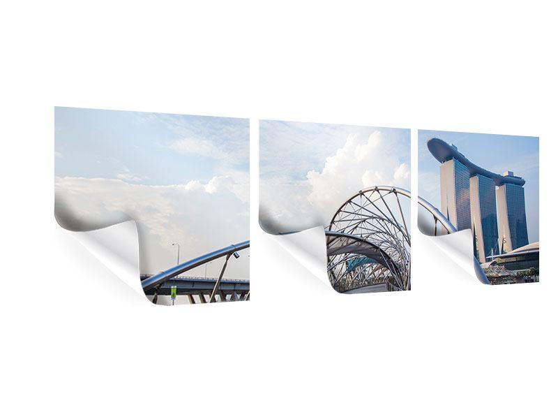 Panorama Poster 3-teilig Helix-Brücke