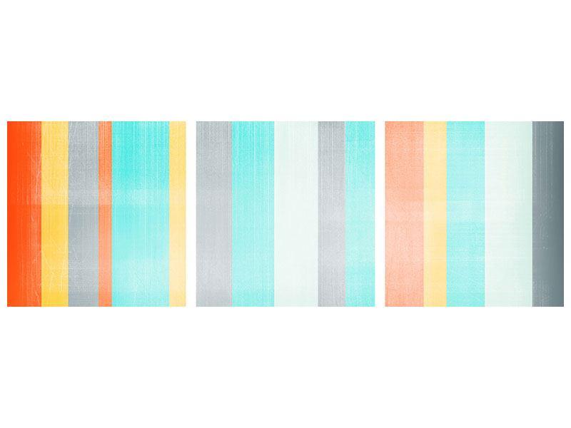 Panorama Poster 3-teilig Grunge Streifen