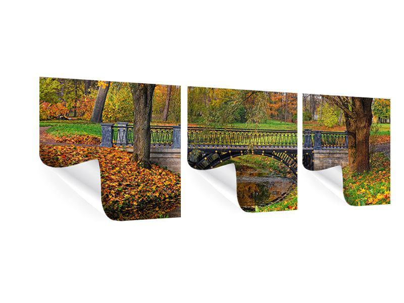 Panorama Poster 3-teilig Romantischer Park