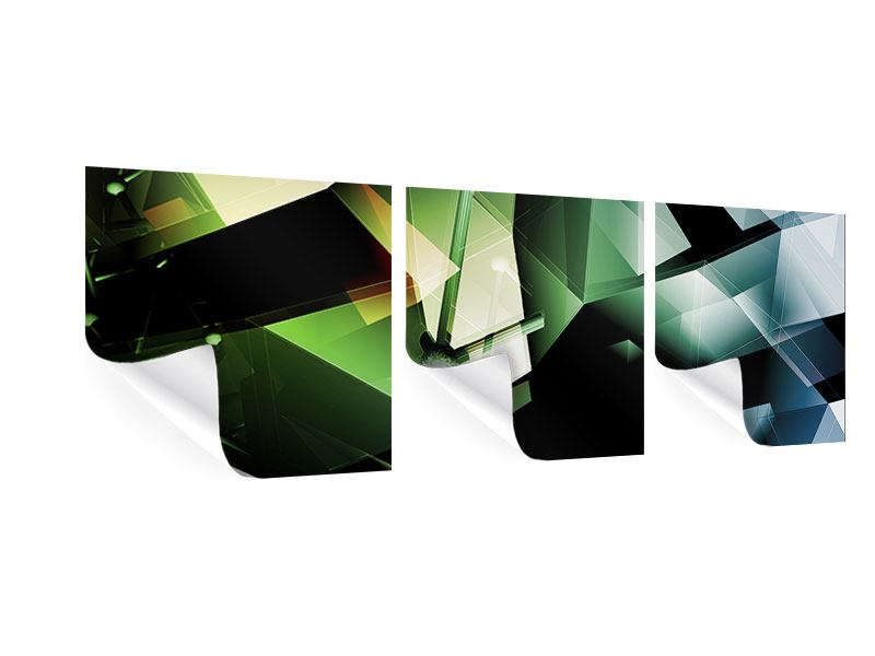 Panorama Poster 3-teilig 3D-Polygon