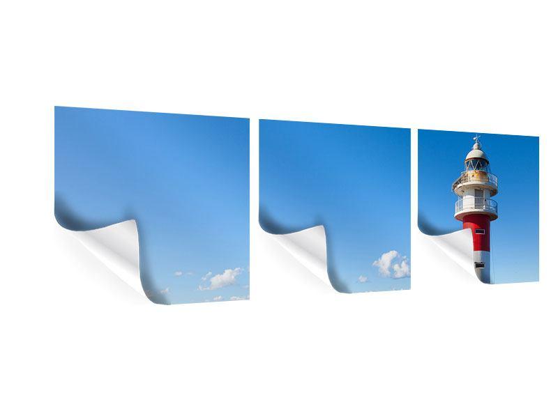 Panorama Poster 3-teilig Leuchtturm in Punta Teno