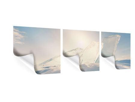 Panorama Poster 3-teilig Eislandschaft