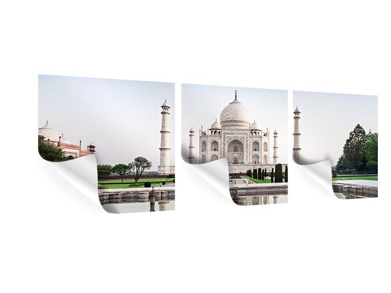 Panorama Poster 3-teilig Taj Mahal
