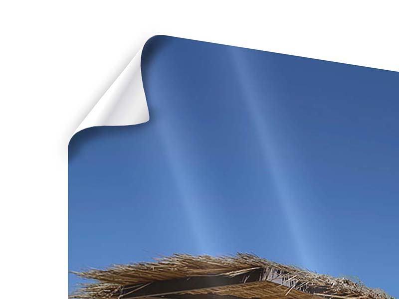 Panorama Poster 3-teilig Umbrellas