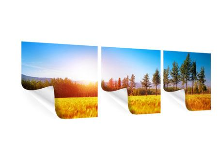 Panorama Poster 3-teilig Der Herbst