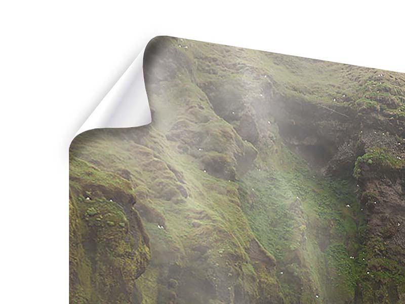 Panorama Poster 3-teilig Skogafoss