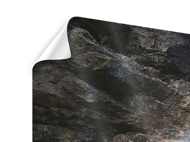Panorama Poster 3-teilig Imposanter Wasserfall