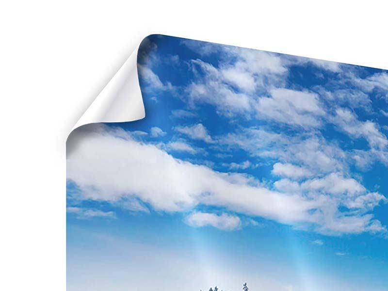 Panorama Poster 3-teilig Wolken ziehen auf
