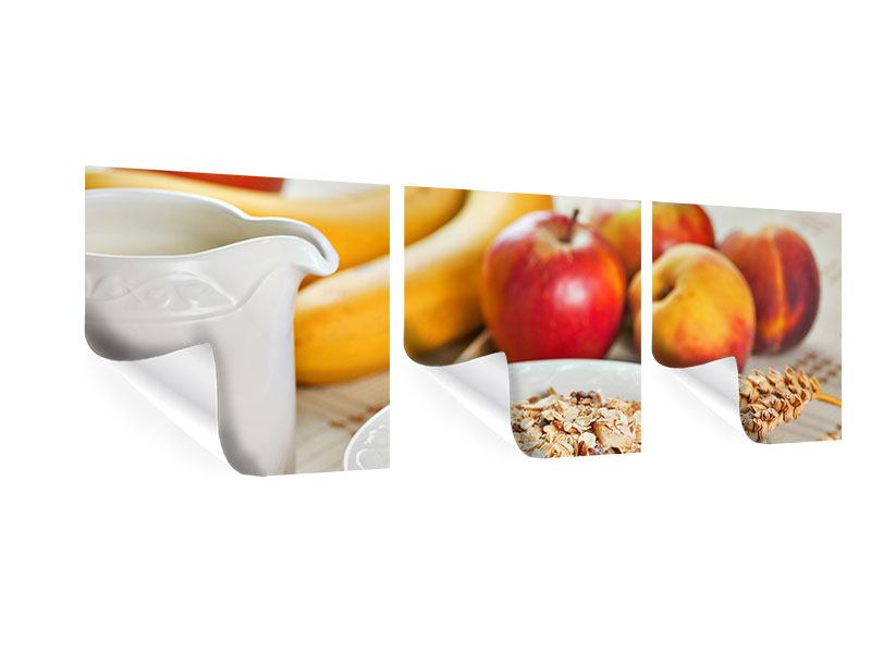 Panorama Poster 3-teilig Frühstück