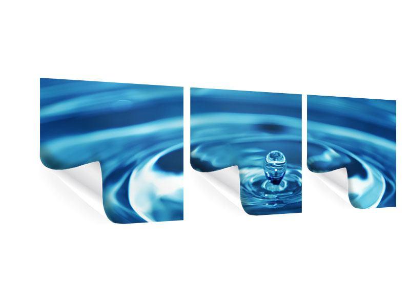 Panorama Poster 3-teilig Der Wassertropfen
