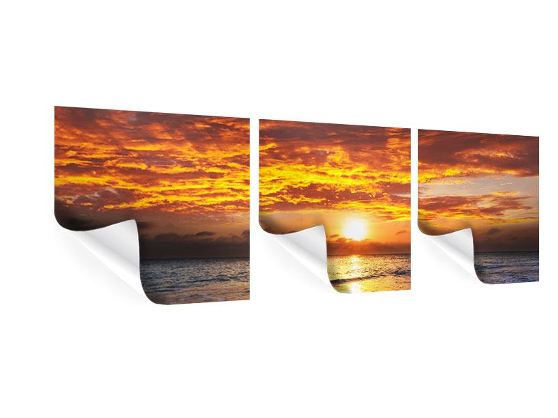 Panorama Poster 3-teilig Entspannung am Meer