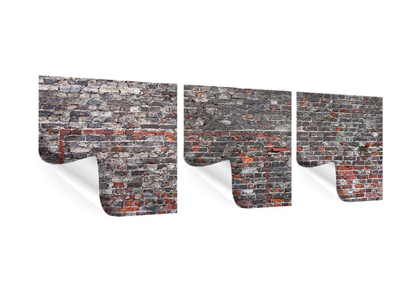 Panorama Poster 3-teilig Alte Backsteine