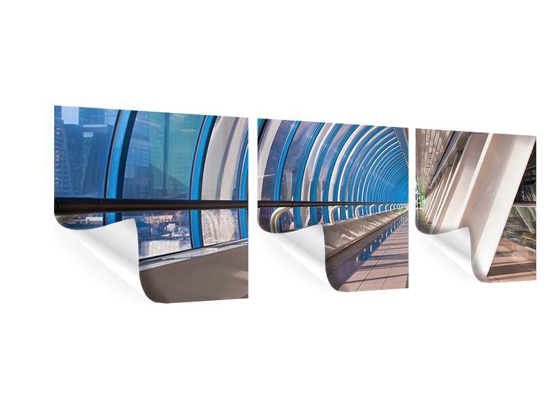 Panorama Poster 3-teilig Hypermoderne Brücke