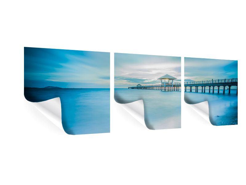 Panorama Poster 3-teilig Brückenimpression