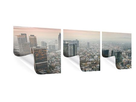 Panorama Poster 3-teilig Skyline Penthouse in New York