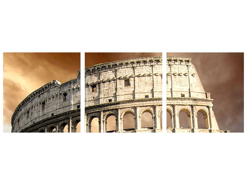 Panorama Poster 3-teilig Kolosseum Rom