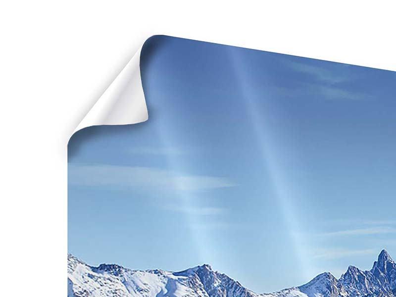 Panorama Poster 3-teilig Gipfelspitzen