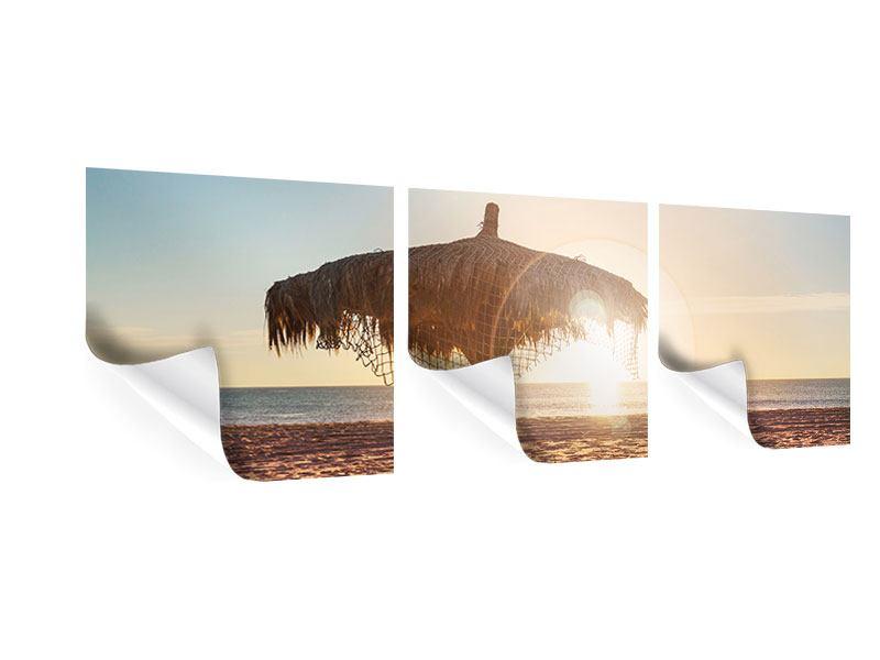 Panorama Poster 3-teilig Der Sonnenschirm