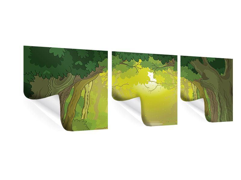 Panorama Poster 3-teilig Der Märchenwald