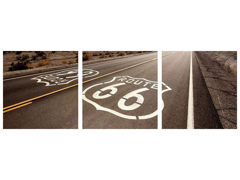 Panorama Poster 3-teilig Route 66