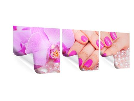 Panorama Poster 3-teilig Manikürte Hände