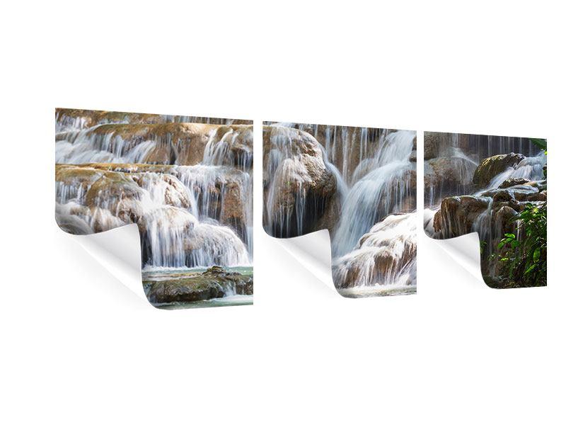 Panorama Poster 3-teilig Mexikanischer Wasserfall