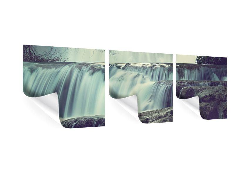 Panorama Poster 3-teilig Wasserfall Mexiko