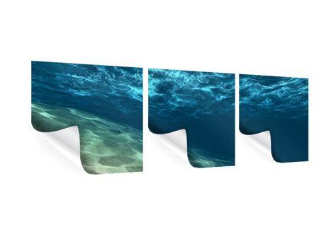 Panorama Poster 3-teilig Unter dem Wasser