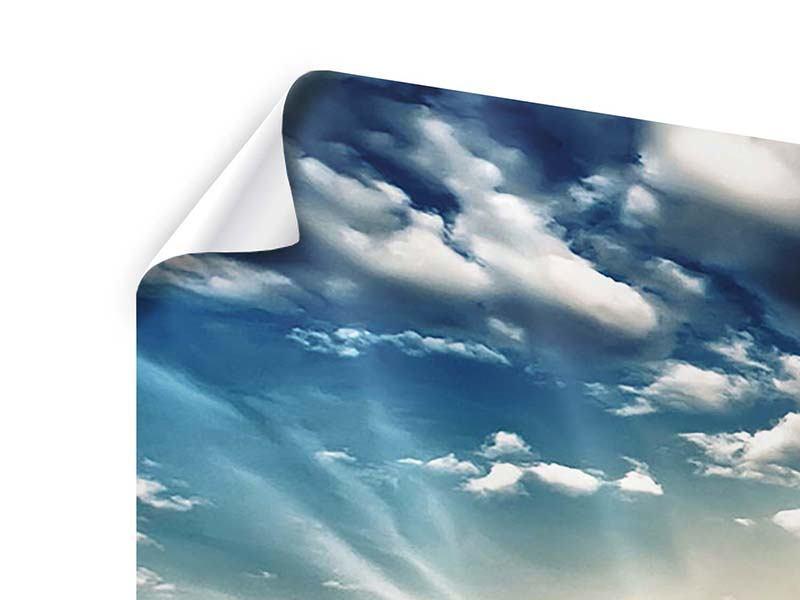 Panorama Poster 3-teilig Skyline Über den Dächern von London