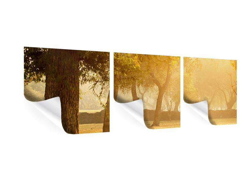 Panorama Poster 3-teilig Romantik unter Bäumen