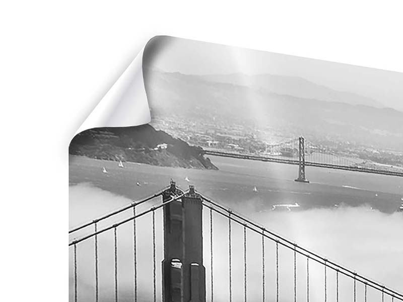 Panorama Poster 3-teilig Golden Gate Brücke